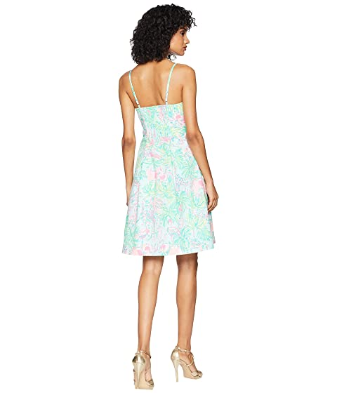 Lilly Pulitzer Easton Dress Seasalt Blue on Parade In UK Online Buy Cheap High Quality Cheap New Styles 8UbwWT