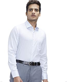 Knighthood by FBB Printed Slim Fit Shirt - Men - White (40)