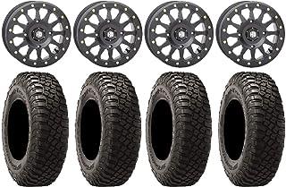 "Bundle - 9 Items: STI HD A1 Beadlock 15"" Wheels Black 30"" BFG KM3 Tires [4x156 Bolt Pattern 3/8x24 Lug Kit]"