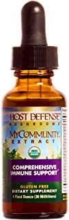 Host Defense - MyCommunity Multi Mushroom Extract, Comprehensive Support for a Robust and Resilient Immune System with Lion's Mane and Turkey Tails, Non-GMO, Vegan, Organic, 30 Servings (1 Ounce)