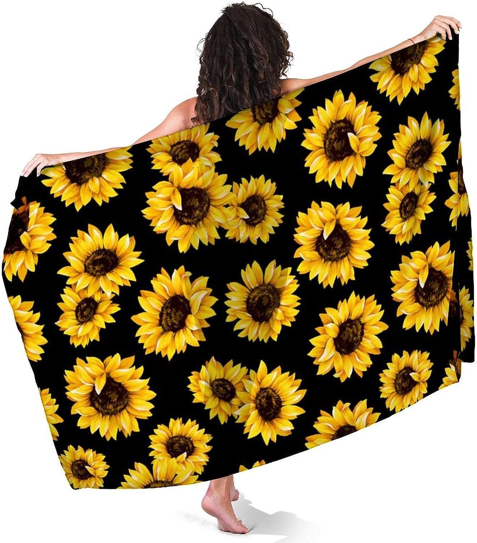 URTEOM Beach Summer Sarong for Womens, Swimwear Cover Ups Short Skirt Chiffon Swimsuit Bikini Wrap Skirts