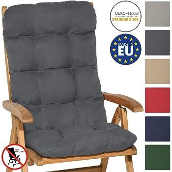 40 * 40cm R/ückenkissen mit B/änder A No chair-1PC Stuhlkissen mit R/ückenteil Sitz Niedriglehner Auflage Polsterauflage Gartenstuhl