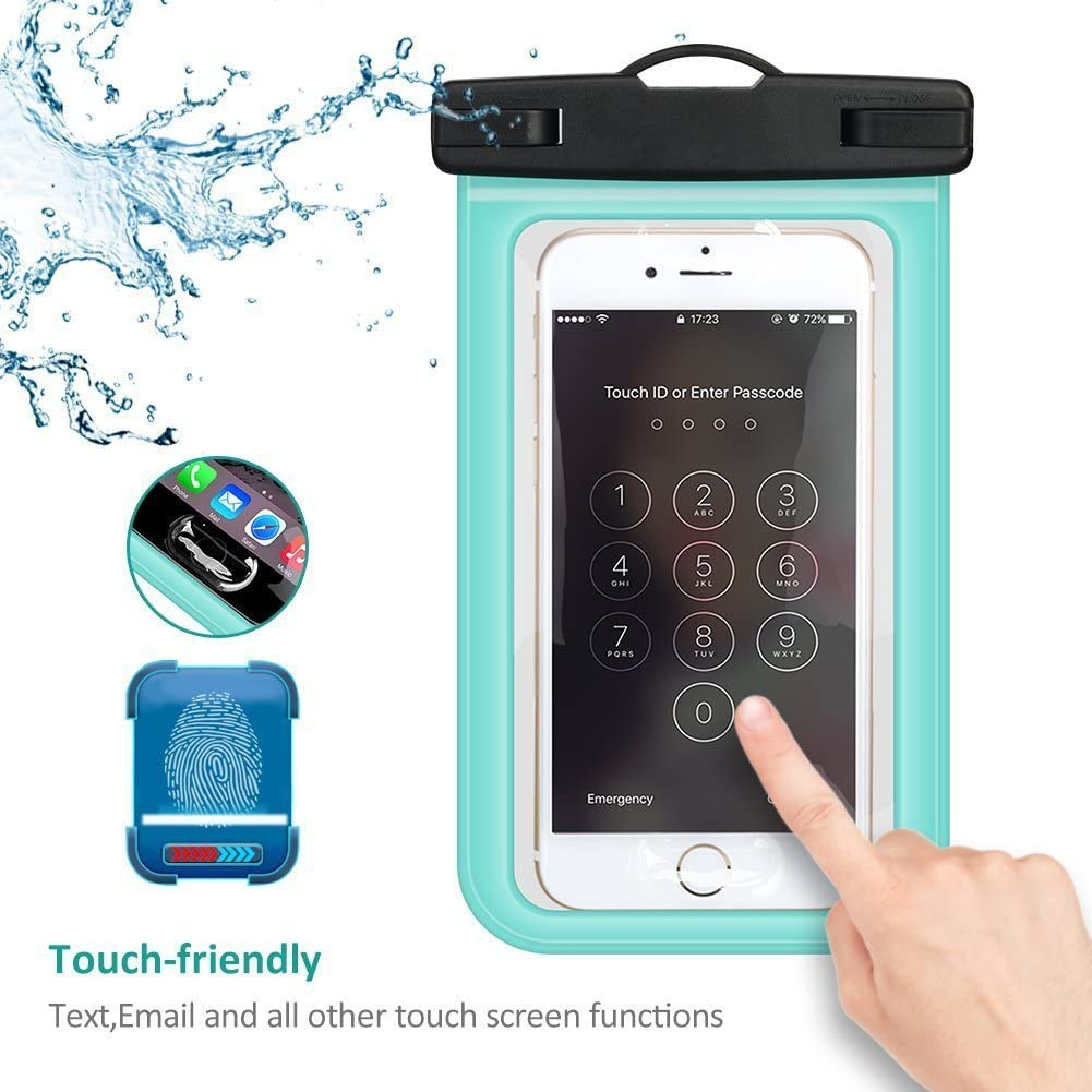 Buylen Universal Waterproof Case with Super Sealability Technology, Cellphone Dry Bag Pouch with Sensitive PVC Touch Screen for Cellphone Up to 6.0