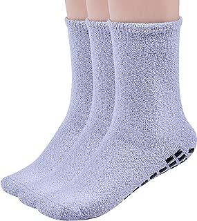 Suede Non Slip Socks Anti Non Skid Resistant Slipper Hospital Socks/Fuzzy Slipper Gripper Socks Winter Slipper Socks