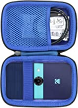 co2CREA Storage Carry Travel Hard Case for KODAK Smile Instant Print Digital Camera  external black interior blue