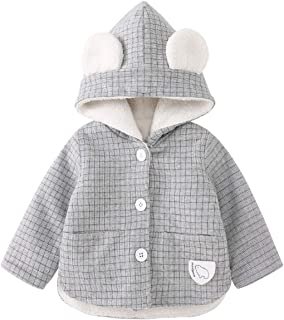 Janly Clearance Sale Boy Coat jacket Set Toddler Baby Girls Winter Cartoon Windproof Coat Warm Outwear Waistcoat Gray-2-3 Years for Christmas
