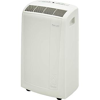 De'Longhi 3-in-1 Portable Air Conditioner, Dehumidifier & Fan + Remote Control & Wheels, 400 sq ft, Large Room, 6000 (DOE) / 10000 BTU (ASHRAE), White, PACN250GN