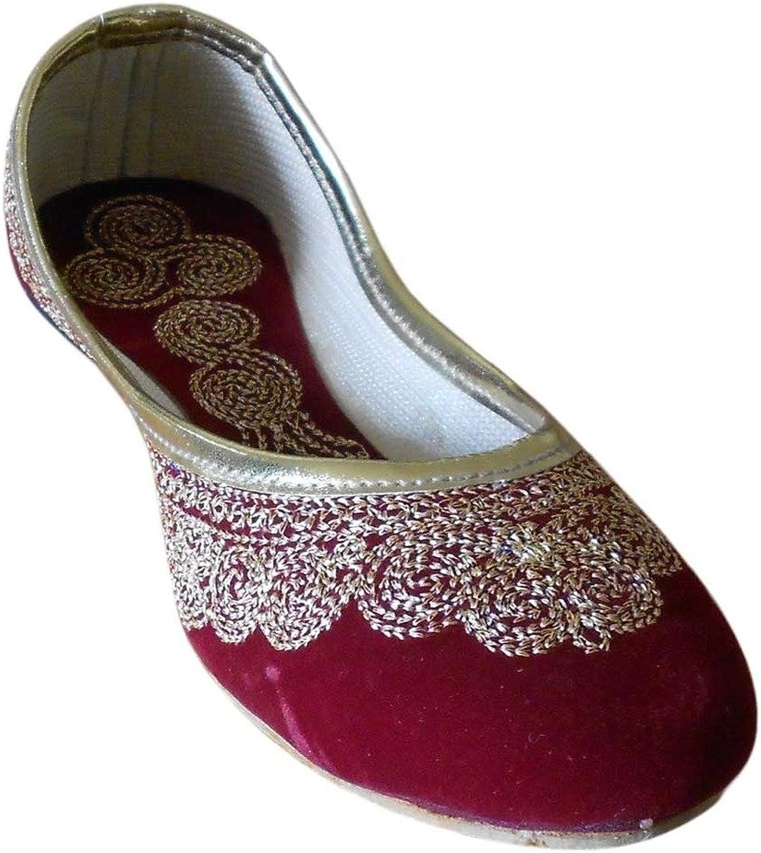 Kalra Creations Women's Traditional Indian Velvet Designer shoes
