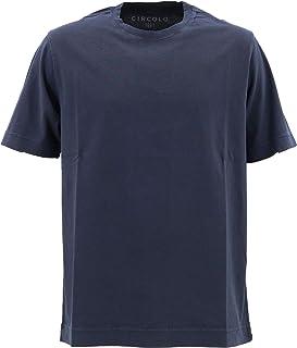 [CIRCOLO1901 チルコロ1901] メンズ コットン クルーネック 半袖 Tシャツ 0104-256506 930(ネイビー)