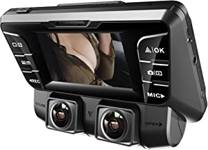 YOUANDMI Dashcam,4K UHD WiFi Dobles Camaras 340° Gran