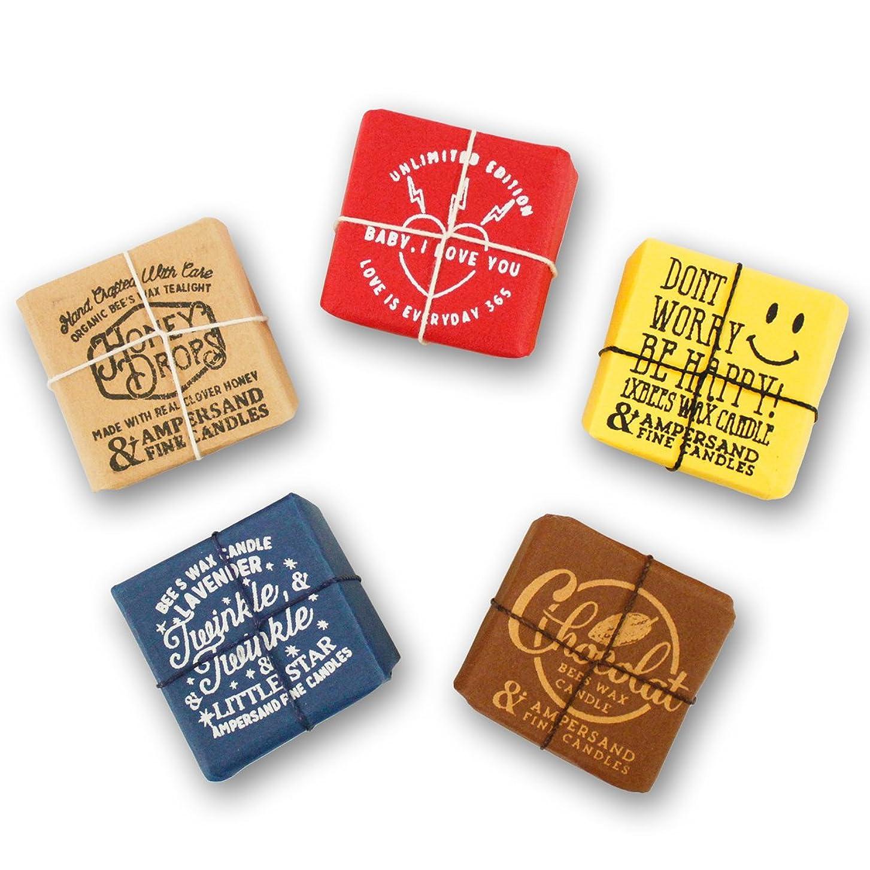 スムーズにカバレッジ牛肉Ampersand Fine Candles(アンパサンド ファイン キャンドル)キャンドル ルームフレグランス ASingle Bees [ 5type ] アロマ ギフト オーガニック OS,Chocolate