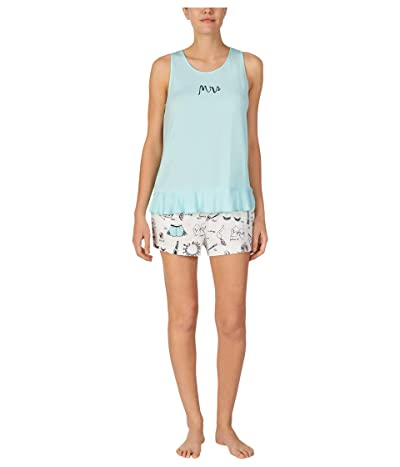 Kate Spade New York Modal Jersey Something Borrowed Tank Shorts PJ Set (Vintage Borrowed Blue) Women