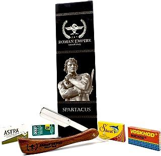Roman Empire Shaving® Zestaw do golenia Spartacus z 20 ostrzami do golenia
