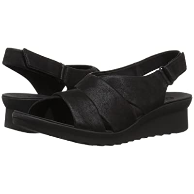 Clarks Caddell Petal (Black Synthetic Nubuck) Women