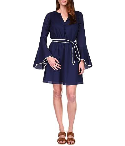 MICHAEL Michael Kors Cotton Lawn Flounce Sleeve Dress Women