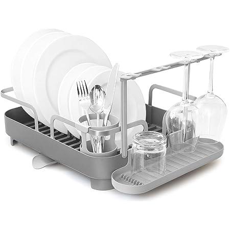 UMBRA Holster. Egouttoir à vaisselle multifonctions Holster. En acier inoxydable, coloris gris. Dimension 41.91 x 34.29 x 15.24 cm