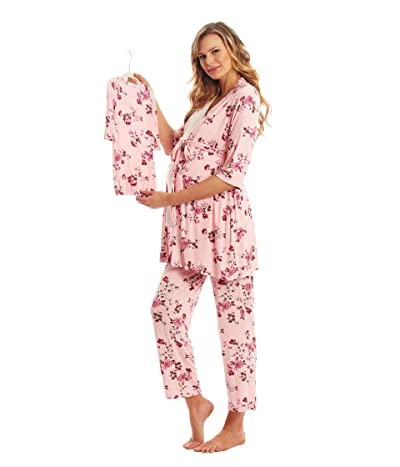 Everly Grey Analise Maternity/Nursing Mommy Me Five-Piece PJ Set (Blossom) Women
