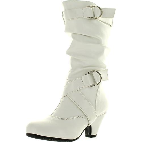 3a6f8058df3 Kids White High Heels Size 2: Amazon.com