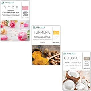 MIRABELLE KOREA RTC COMBO (ROSE, TURMERIC, COCONUT) ESSENTIAL FACIAL SHEET MASK