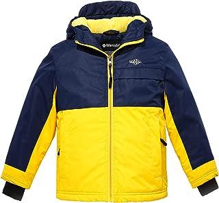 Wantdo Boy's Windproof Ski Fleece Jacket Hooded Waterproof Spring Rain Coat