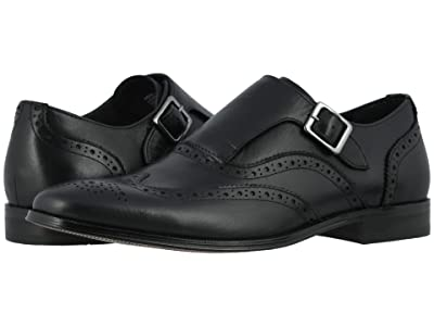 Florsheim Jetson Wing Tip Single Monk Strap (Black Smooth) Men