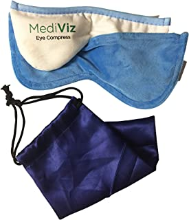 Mediviz Blepharitis Dry Eye Mask - With Removable Cover, Relieving Dry Eye Moist Heat Compress for Dry Eye, Styes, Meibomian Gland Dysfunction, Headaches, Sinuses, and Allergies (REMOVABLECASE)