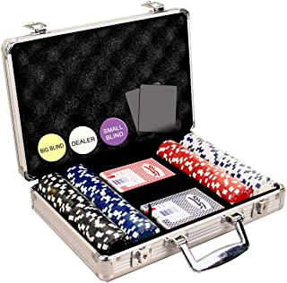 DA VINCI 200 Dice Striped Poker Chip Set, 11.5gm