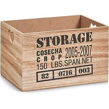 Zeller 15123 – Caja de almacenaje Storage, MDF/Madera, Natural, 33 ...