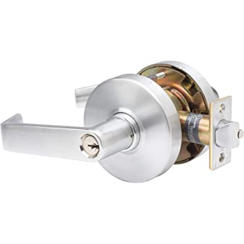 TACO DL-LHV80CL-US26D DL-LHV Series Trans Atlantic Heavy Duty Grade 1 Commercial Cylindrical Storeroom Clutch Function Lever in Brushed Chrome The LHV Series Heavy Duty Commercial Cylindrical Leverset with clutch is designed for use on heavy-duty backset