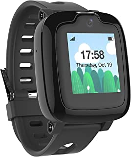 Smart Watch Phone for Kids Ultimate 3G Smartwatch with GPS Tracker Touchscreen Camera Touch SOS Remote Alarm Fitness Trackers Waterproof Cell Phone Watches for Girls Boys by MyFirst Fone Black