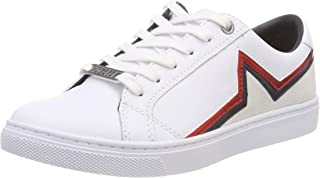 Tommy Hilfiger Women's Essential Star Print Leather Lace-Up Sneaker Trainers