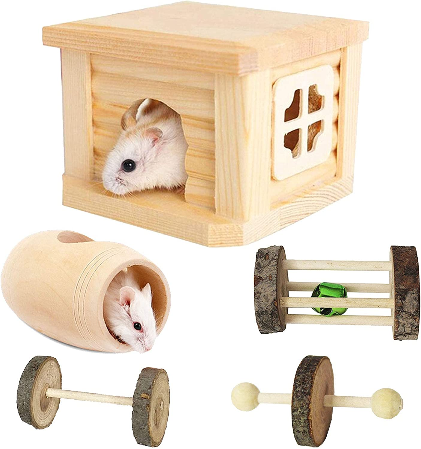 Toylord Dwarf Hamster House Wooden Fixed Free Shipping New price for sale Smal Tunnel Toys Hideouts Hut
