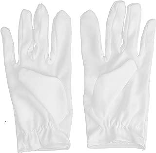 Skeleteen White Child Costume Gloves - Formal Kids Size Wrist Glove Set for Boys and Girls