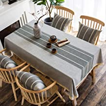 Tablecloth cloth cotton small fresh lattice eight immortal table square household rectangular simple 130 * 190cm