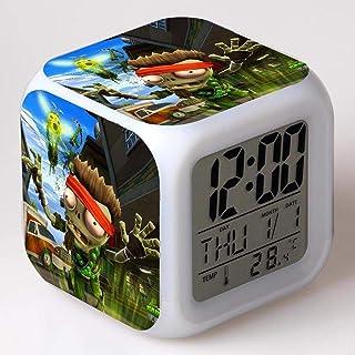 Noël enfants coloré lumineux réveil cadeau enfants jouets Ledfunction réveil chiffres affichages numériques veilleuse acce...