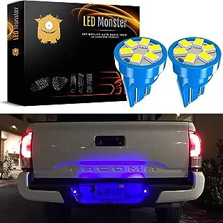 LED Monster 2x T10 194 Wedge Blue LED Lights Bulbs for License Plate Lamps License Frame Tag Number Plate (2)
