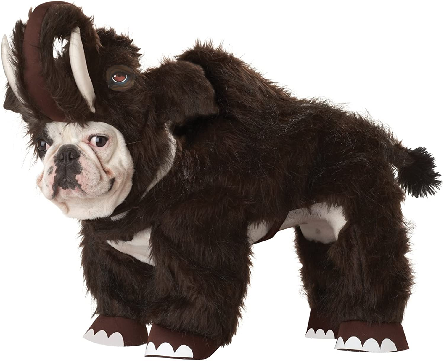 Animal Planet Wooly Mammoth Dog Costume, XSmall, Brown
