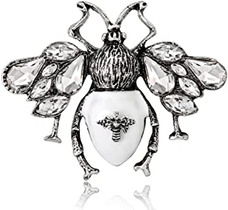 0f14f9c69 CocoRibbon Antique Silver Honey Bee Brooch Bumble Bees Bee Insect Bug Pin  Brooches