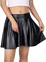 womens leather look skirt