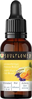 Soulflower Stress Relief Essential Oil Blend, A special blend of selected essential oils like Clary Sage, Orange, Bergamo...