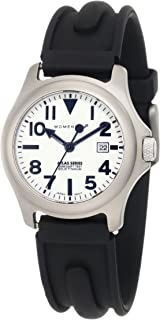 Momentum Women's 1M-SP01W1 Atlas White Dial Black SLK Rubber Watch