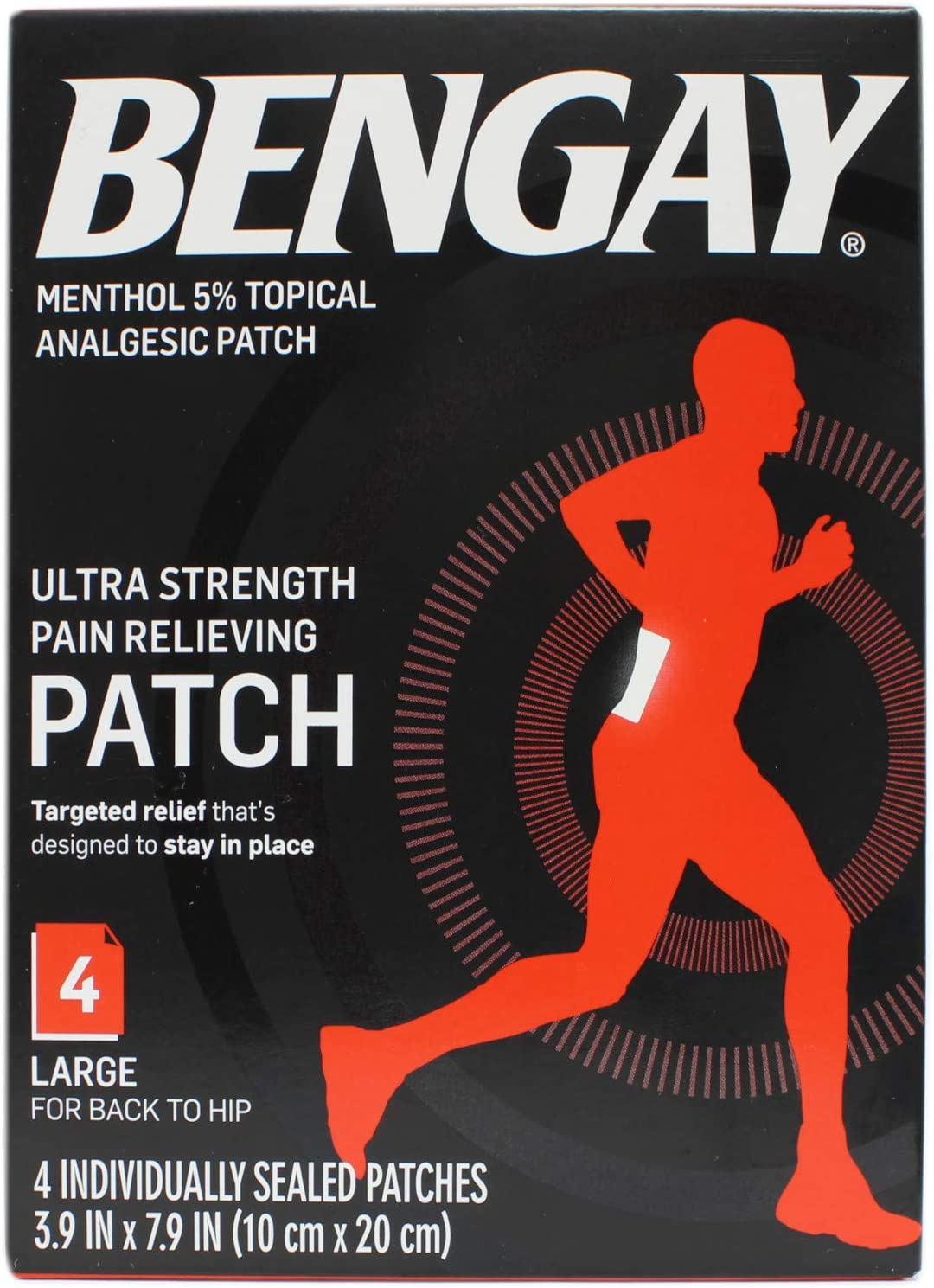 BENGAY Ultra 新作販売 Strength Pain Relieving Patches Each 専門店 Large 4 Size
