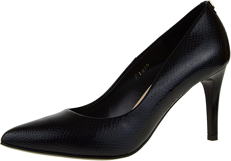 WANabcMAN Comfortable Dress Pumps Black Patent Leather High Heels