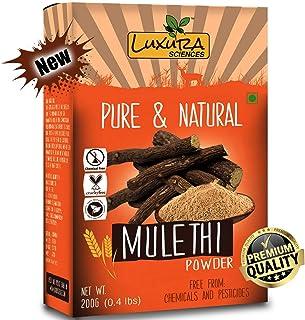 Luxura Sciences Natural Mulethi Powder For Skin Whitening 200 Grams, Licorice Powder For Body, Skin, and Hair.