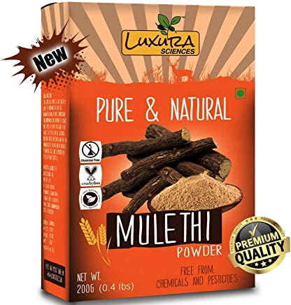 Luxura Sciences® Natural Mulethi Powder For Skin Whitening 200 Grams, Licorice Powder For Body, Skin, and Hair.