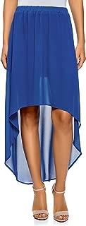 Ultra Women's Chiffon Skirt with Asymmetric Hem