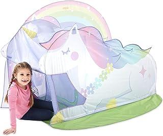 PLAYHUT Basic Fun Tienda de campaña con diseño de caseta de Unicornio