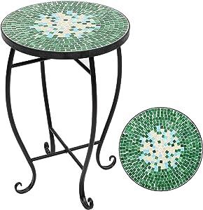 JKSNT Mosaic Accent Table, 14