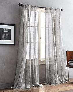 DKNY Urban Safari Sheer Window Curtain Panel Pair