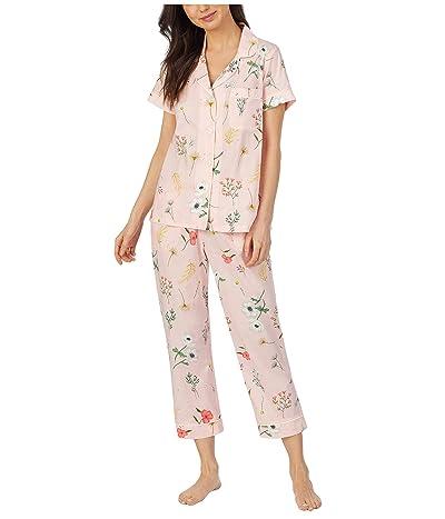 BedHead Pajamas Short Sleeve Cropped Pajama Set (Flower Study) Women